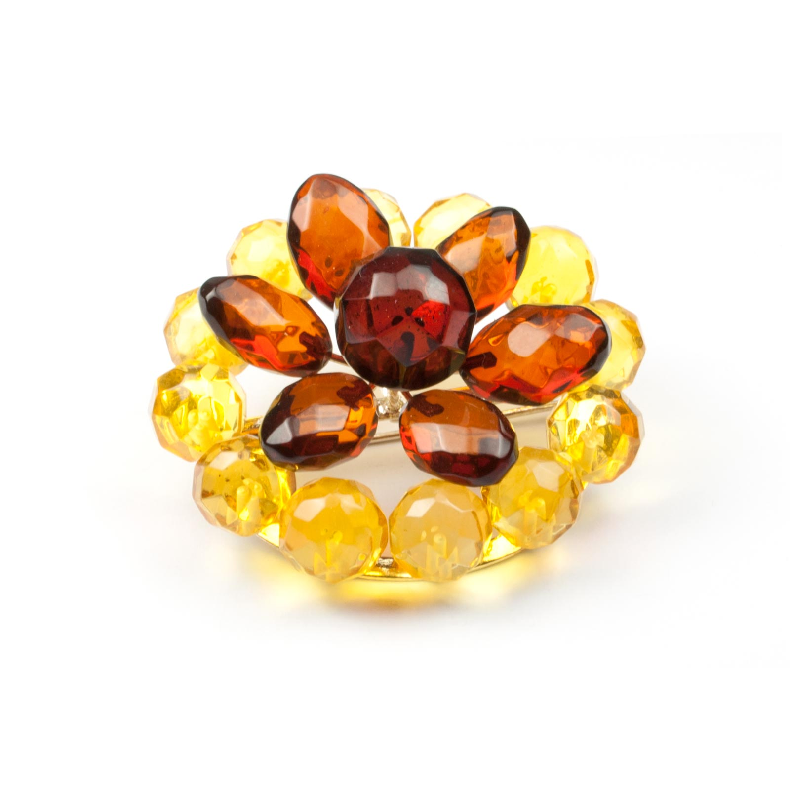"Natural Baltic Amber Brooch ""Lily"""