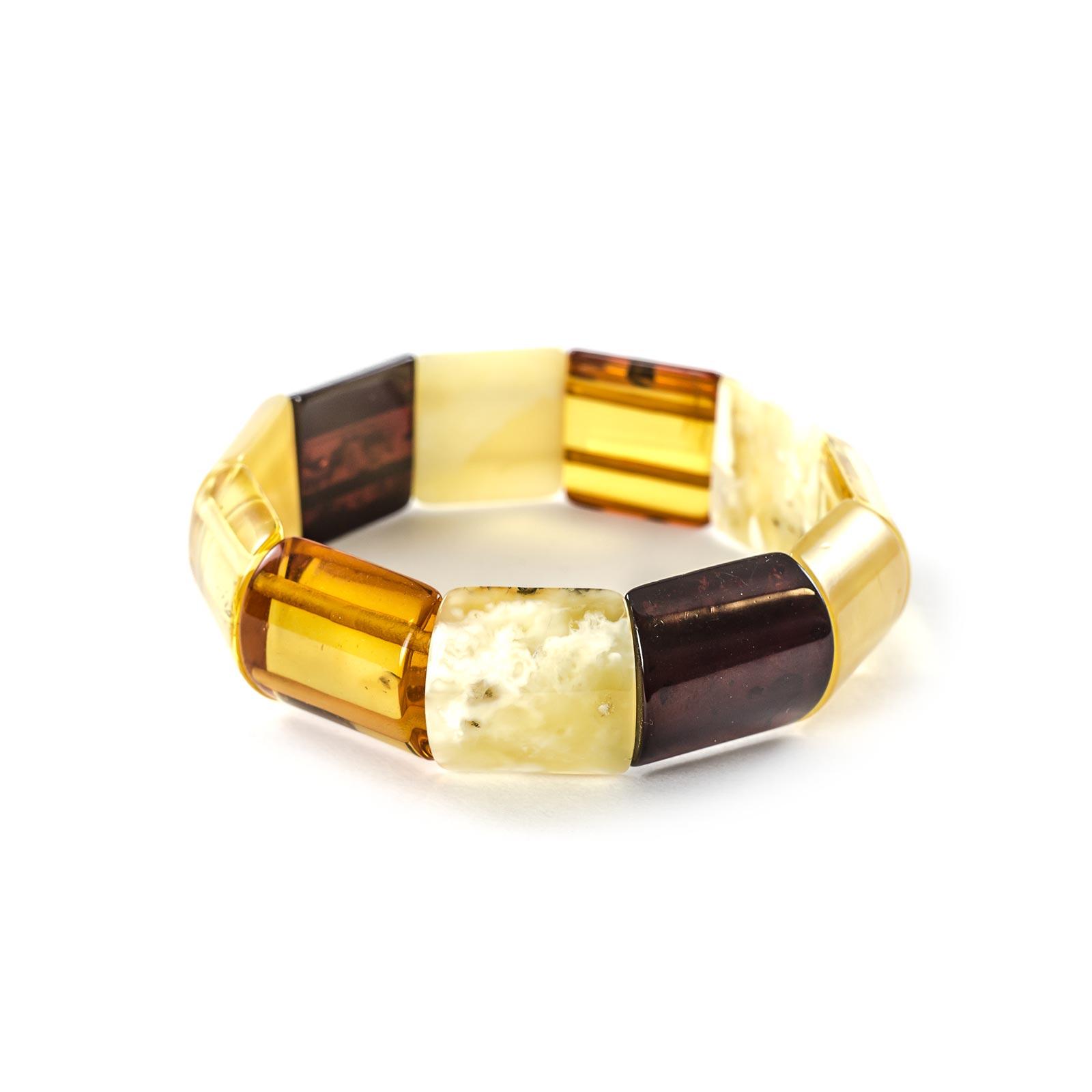 """Natural Baltic Amber Bracelet """"Madlen"""" Colored"""