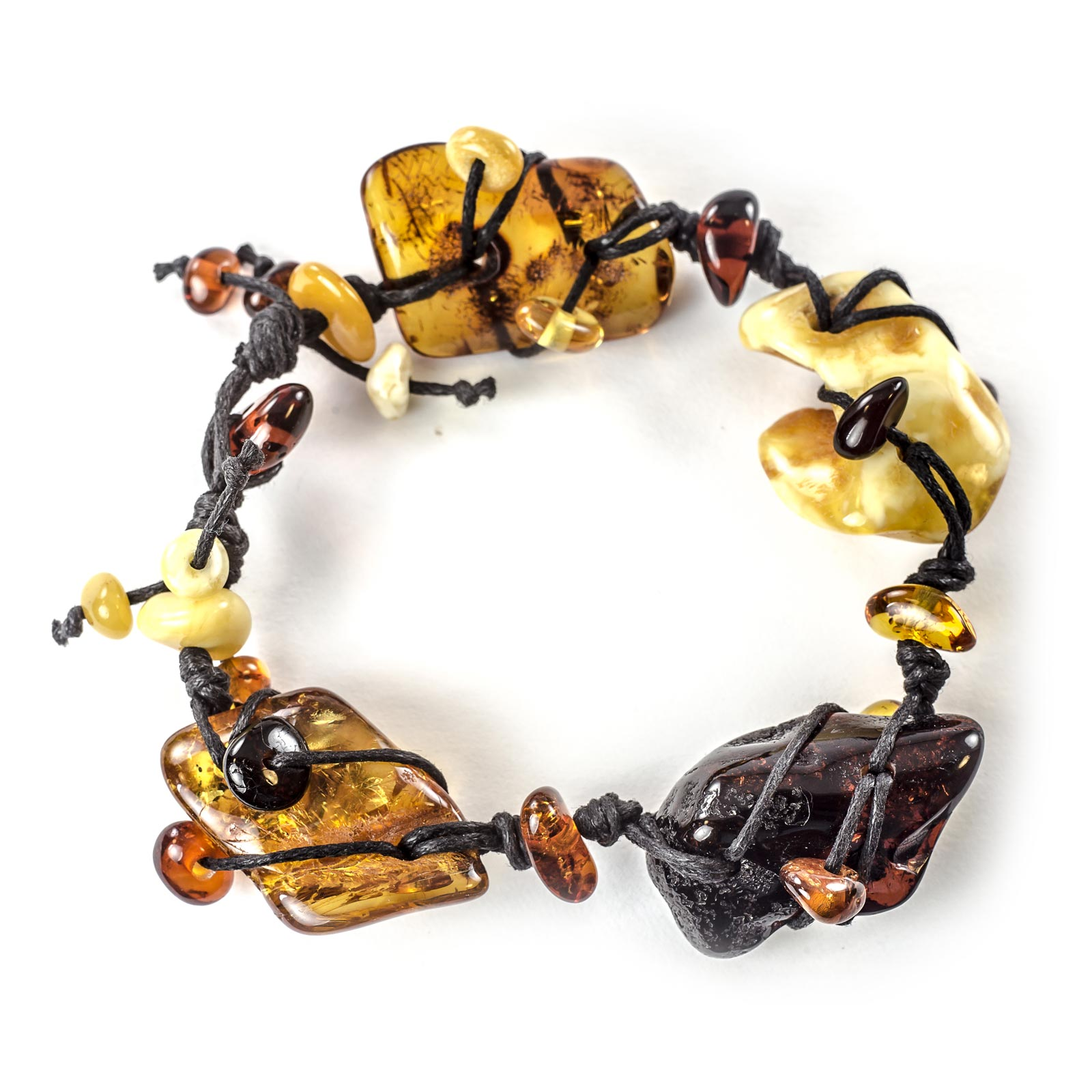 "Natural Baltic Amber Bracelet ""Symphony"""