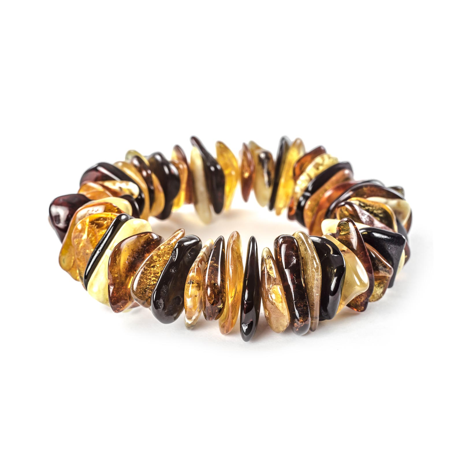 """Natural Baltic Amber Bracelet """"Thor"""" Multi Color"""