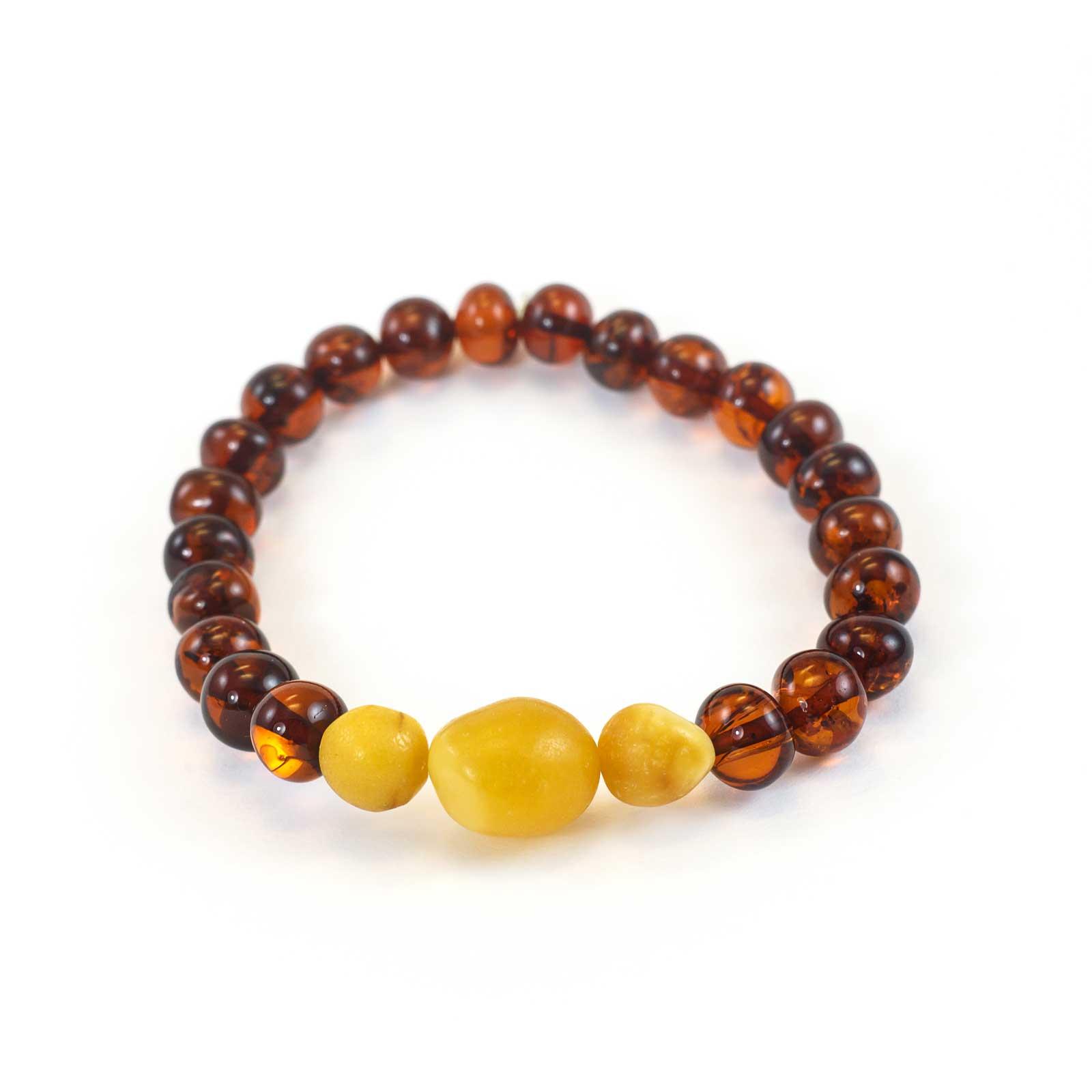 "Natural Baltic Amber Bracelet ""Fresco"""