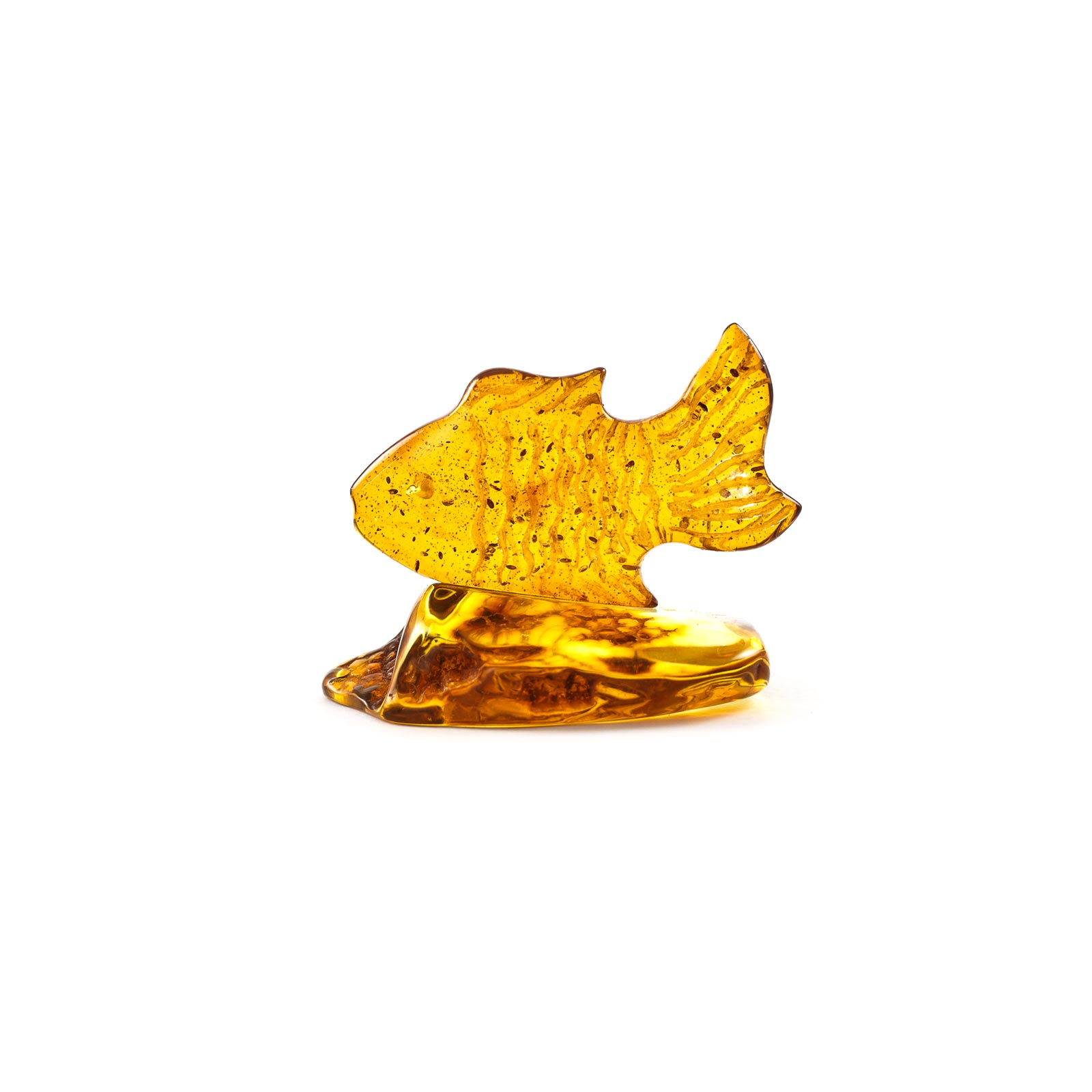 "Natural Baltic Amber Figurine ""Gold Fish"""