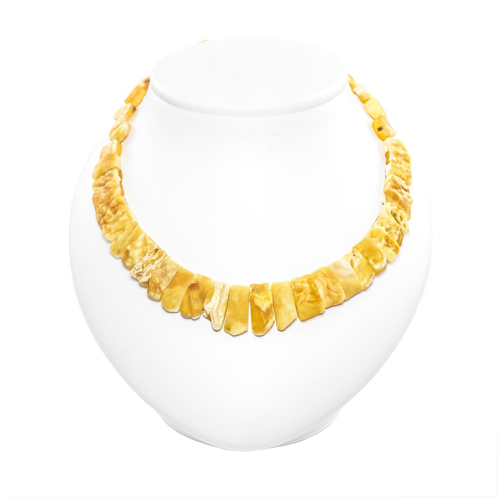 "Natural Baltic Amber Necklace ""Silvia"" Yellow"