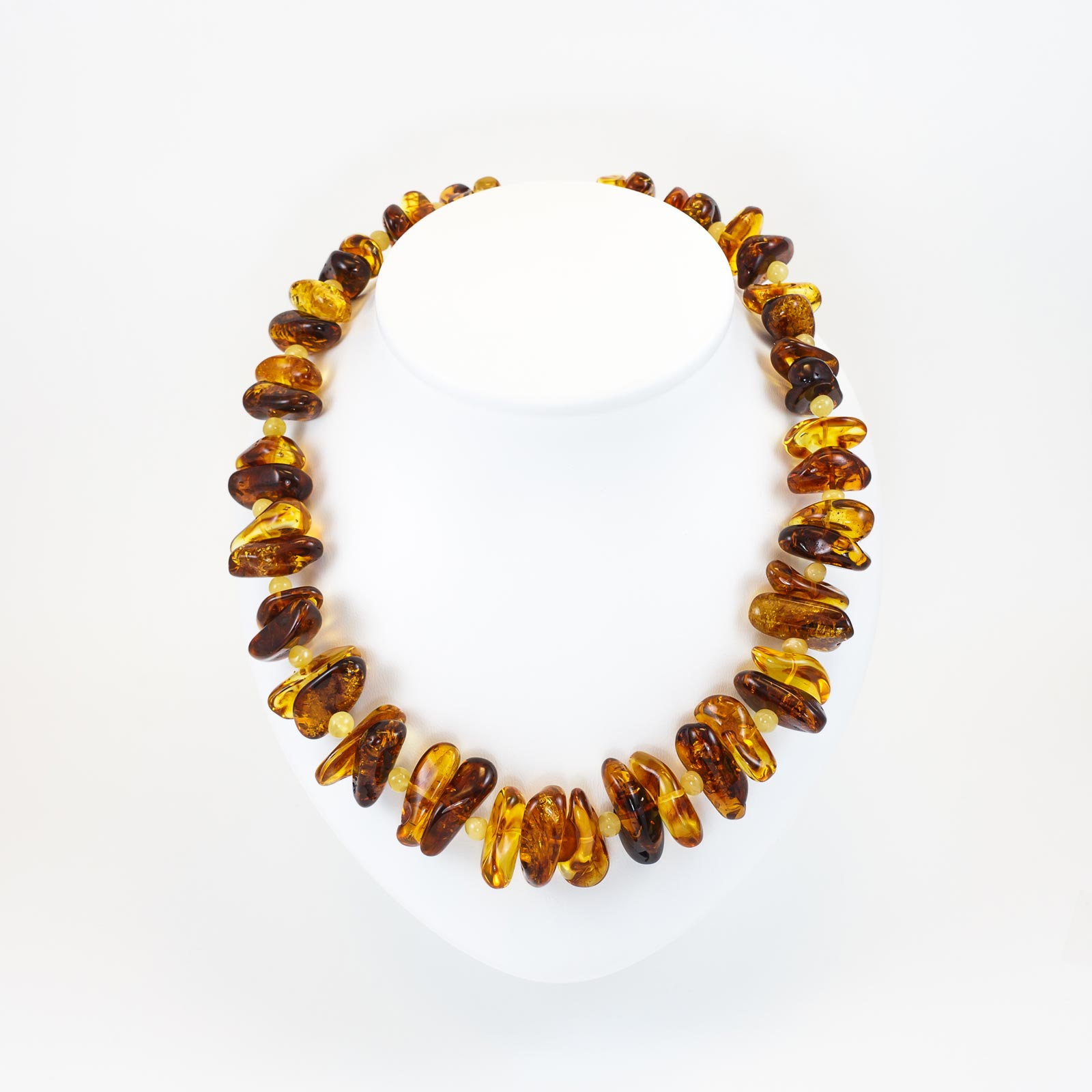 "Natural Baltic Amber Necklace ""Frezia"""