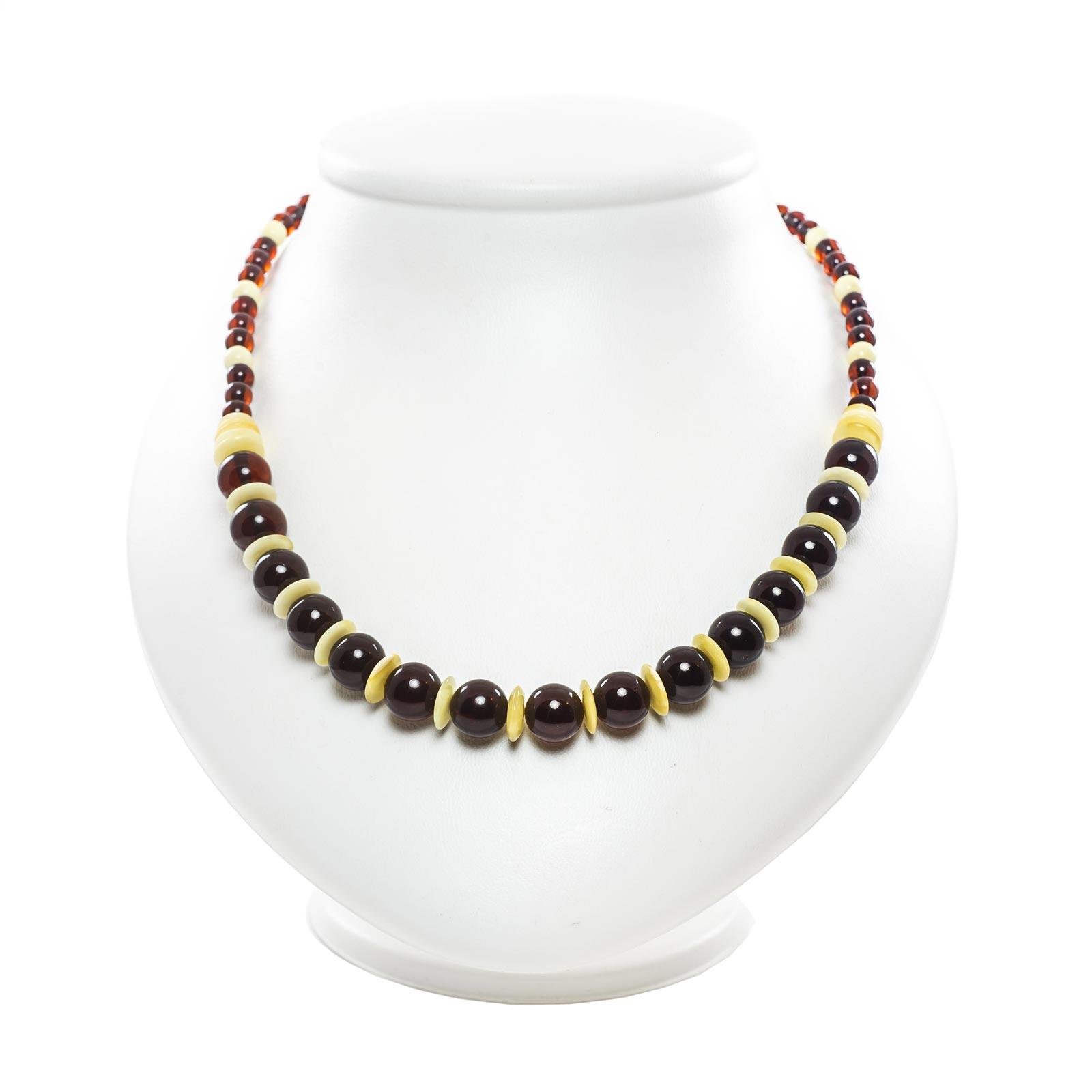 "Natural Baltic Amber Necklace ""Visavi II"""