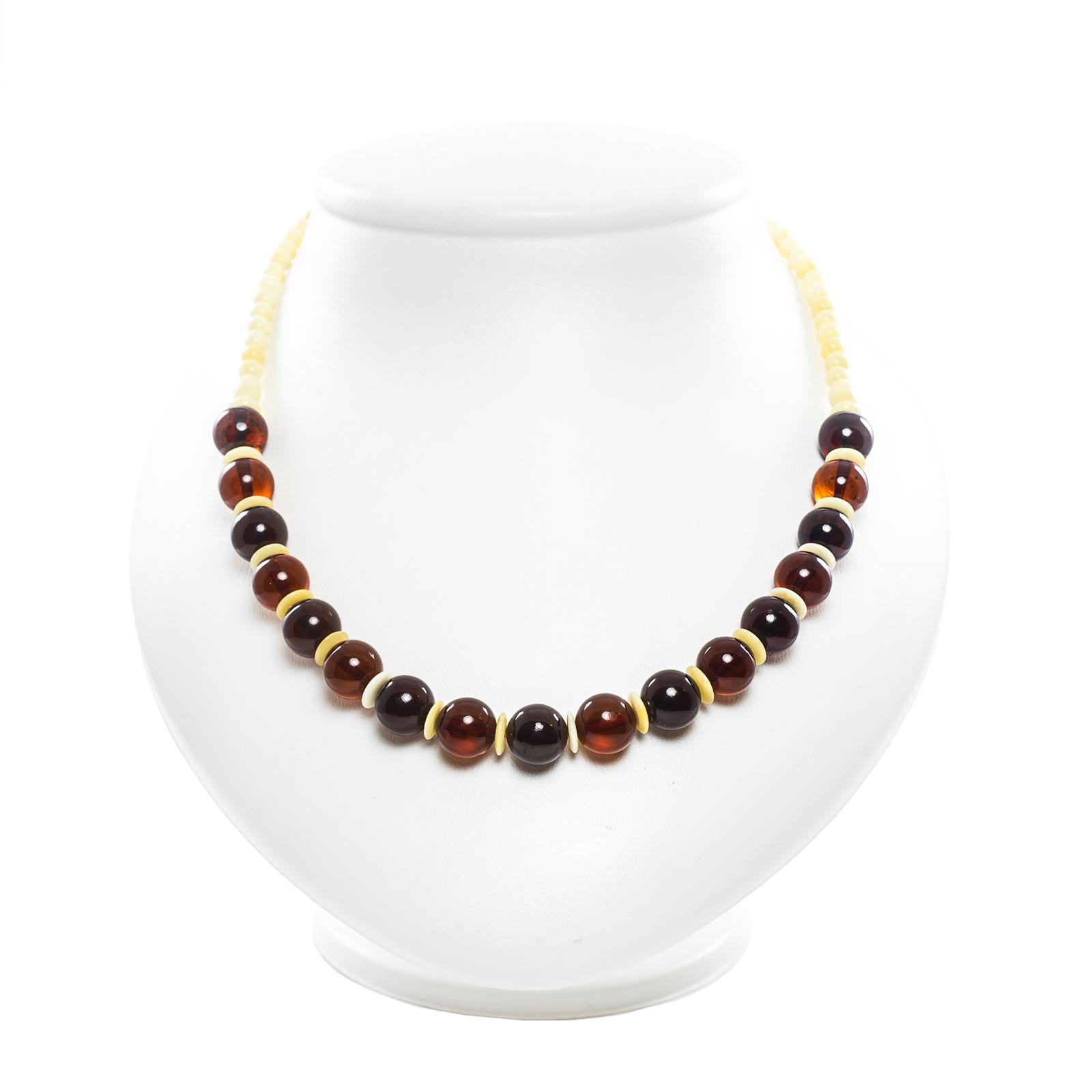 "Natural Baltic Amber Necklace ""Visavi"""