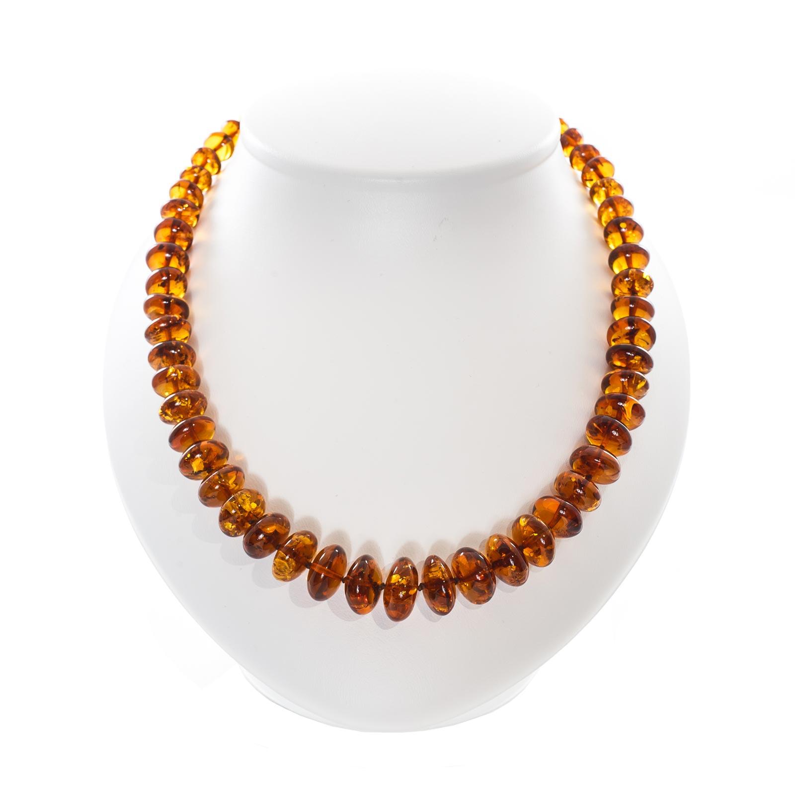 "Natural Baltic Amber Necklace ""Orange"""