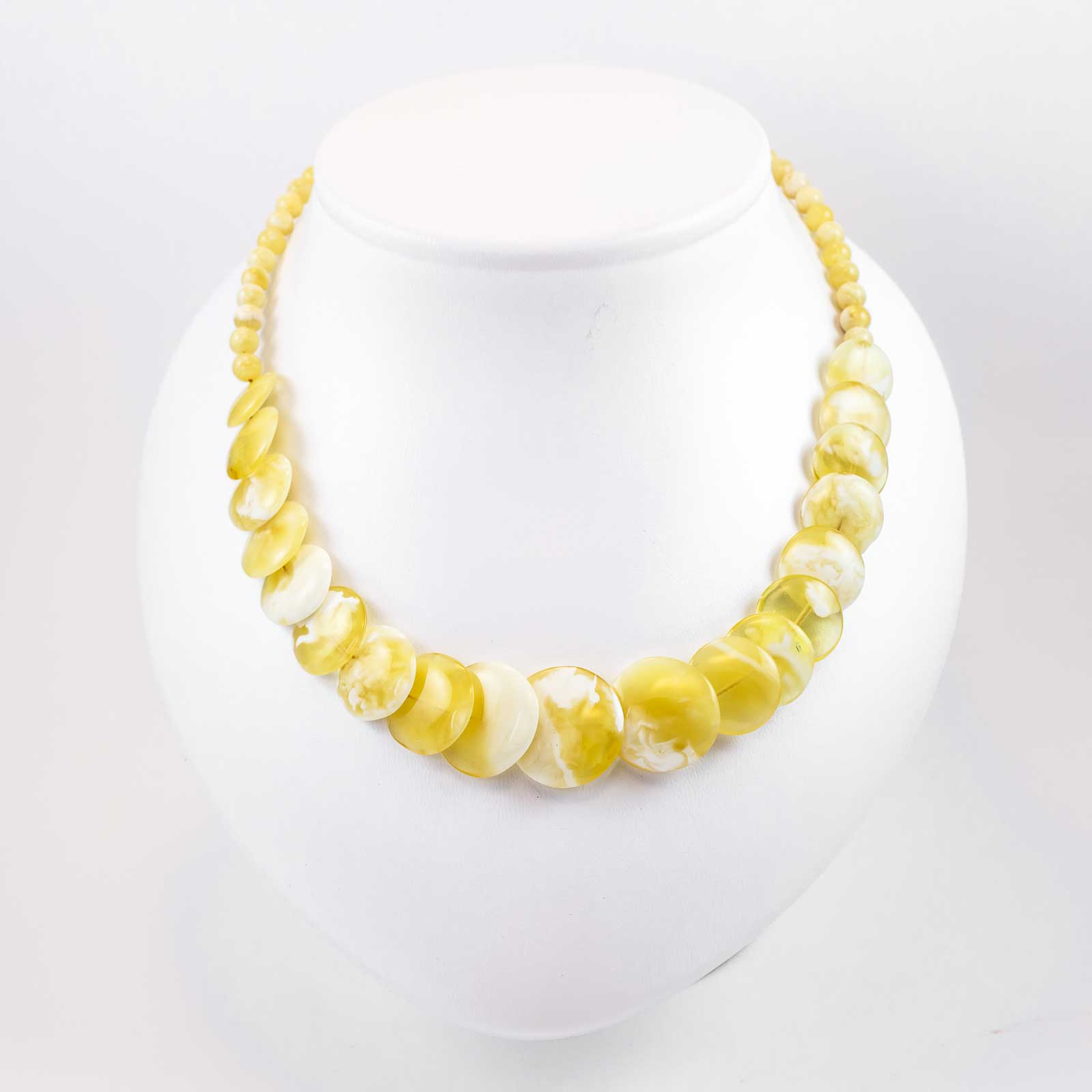 "Natural Baltic Amber Necklace ""Roundel"""