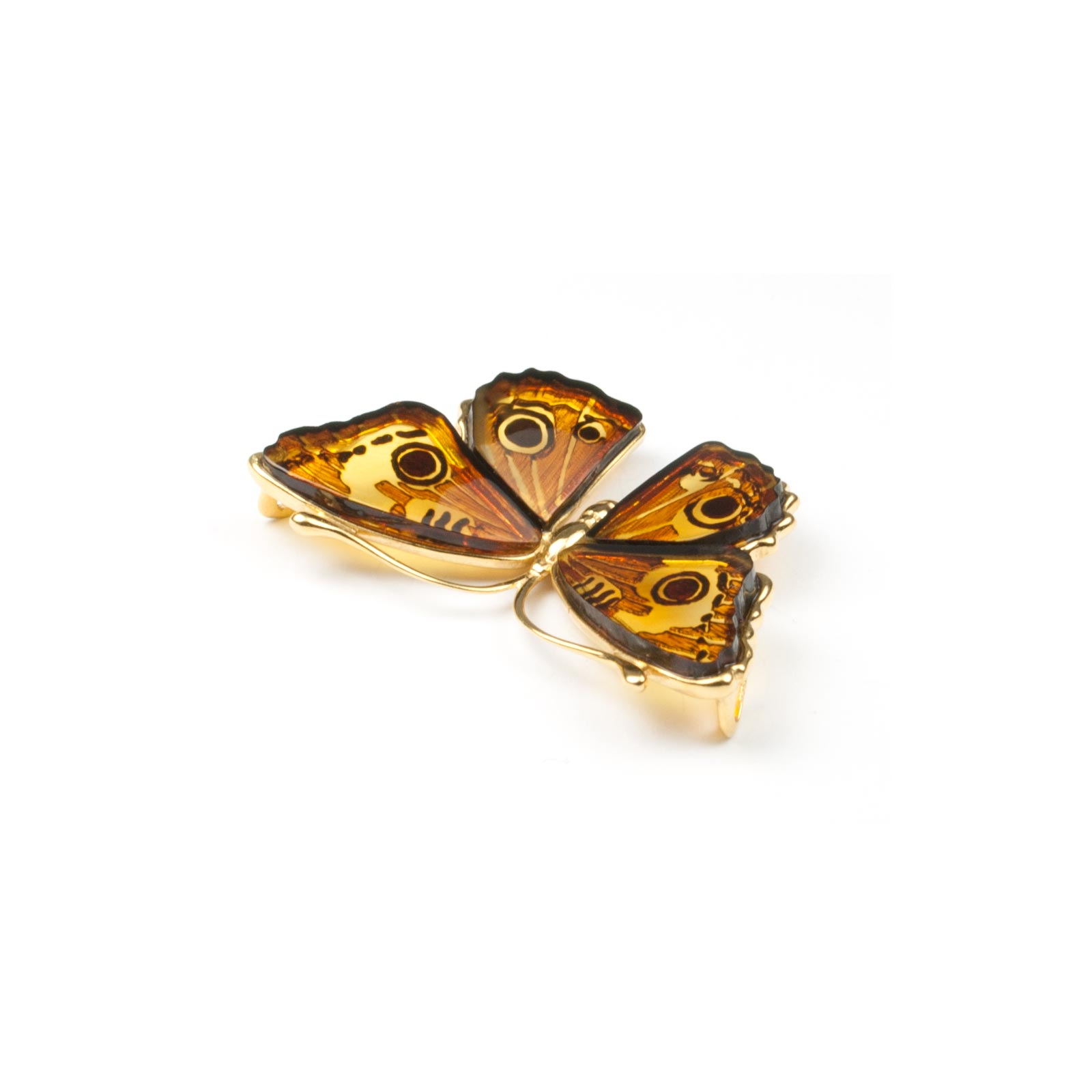 """Natural Baltic Amber Pendant """"Butterfly"""""""