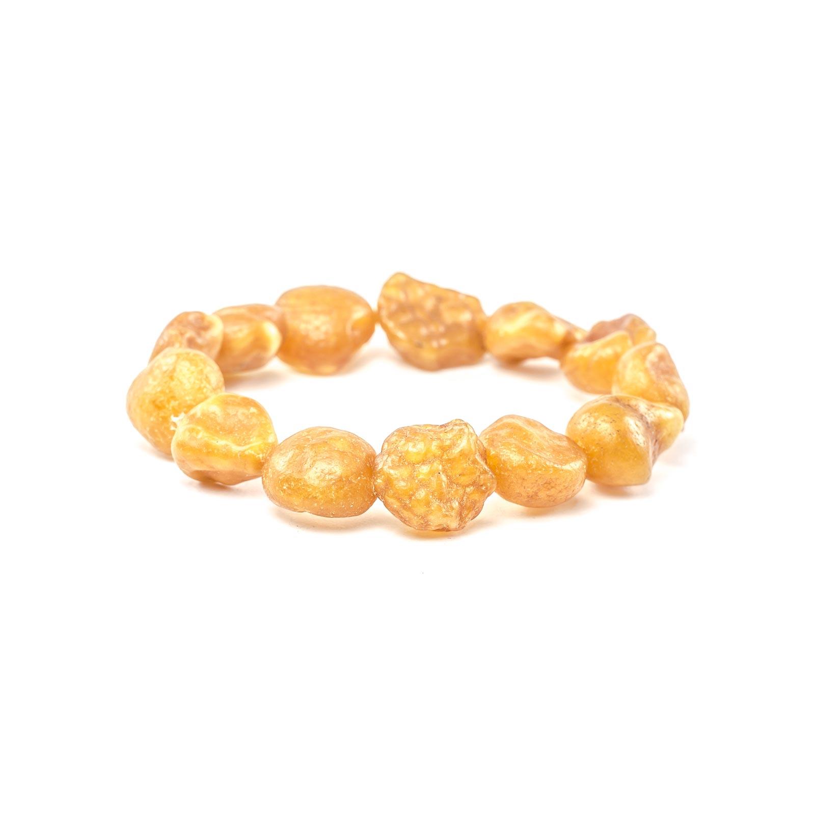 "Natural Raw Baltic Amber Bracelet ""Infinity"""