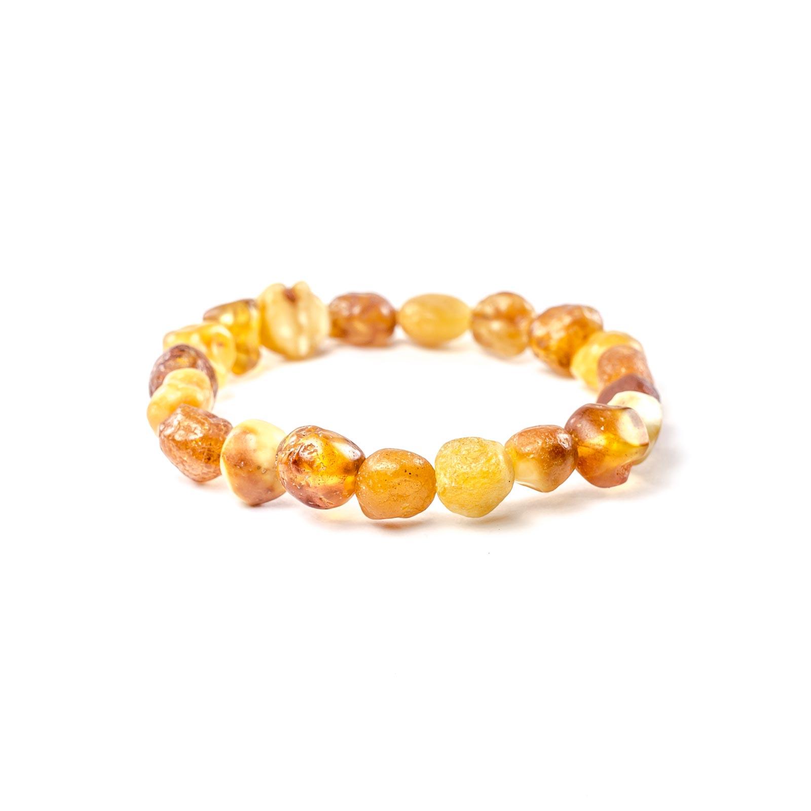 "Natural Raw Baltic Amber Bracelet ""Infinity II"""