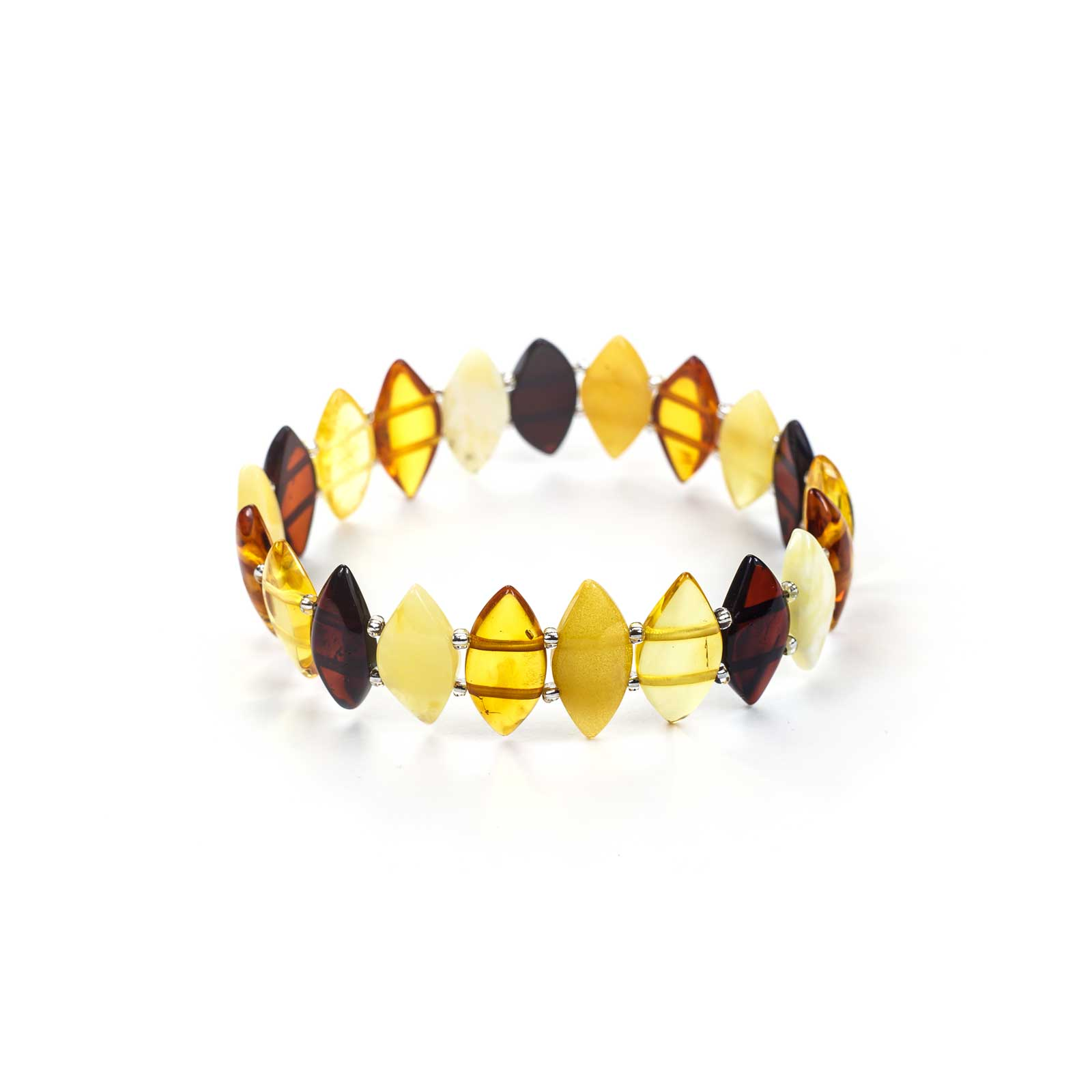 "Natural Baltic Amber Bracelet ""Crystals"""
