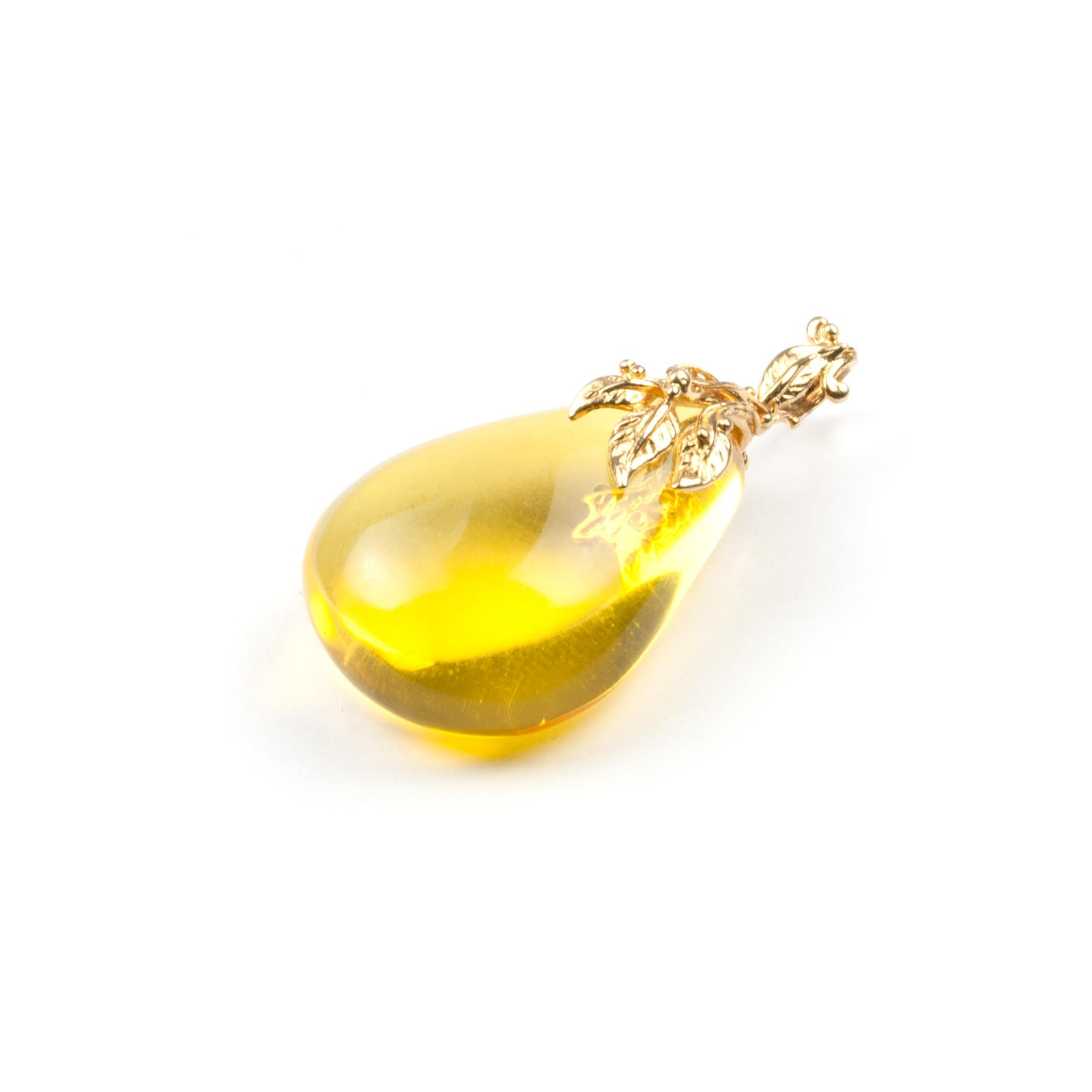"Natural Baltic Amber Pendant with Silver ""Autumn"""