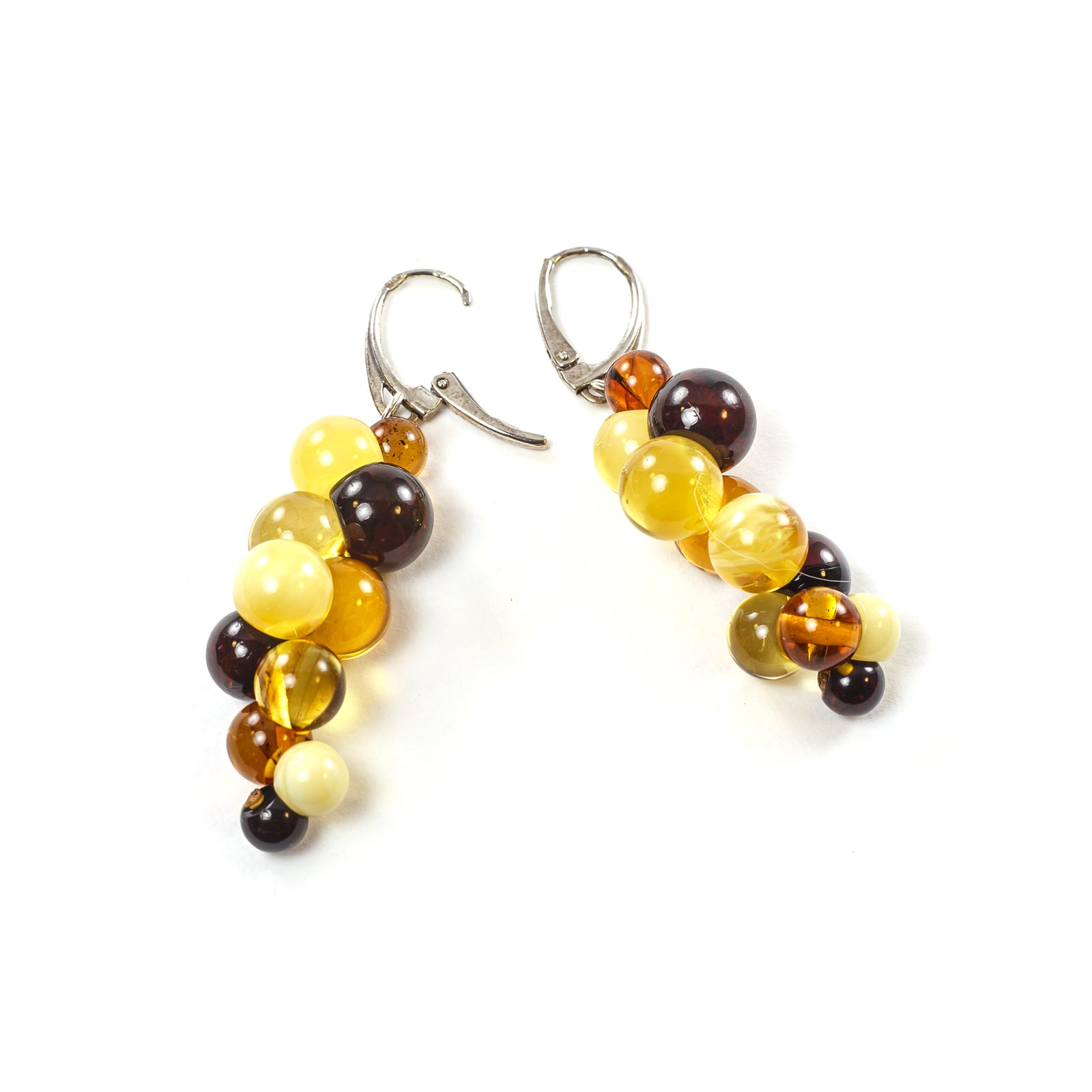 "Silver Earrings with Natural Baltic Amber ""Purity"""