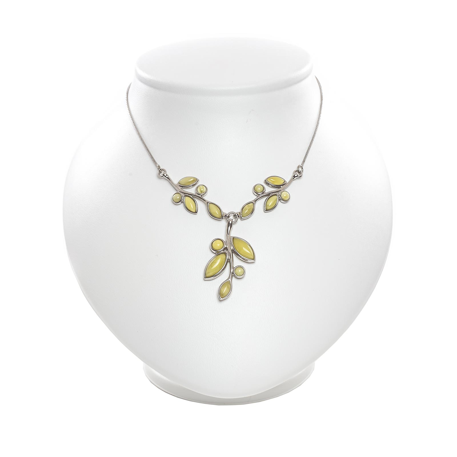 """Silver Necklace with Natural Baltic Amber """"Flawless"""""""