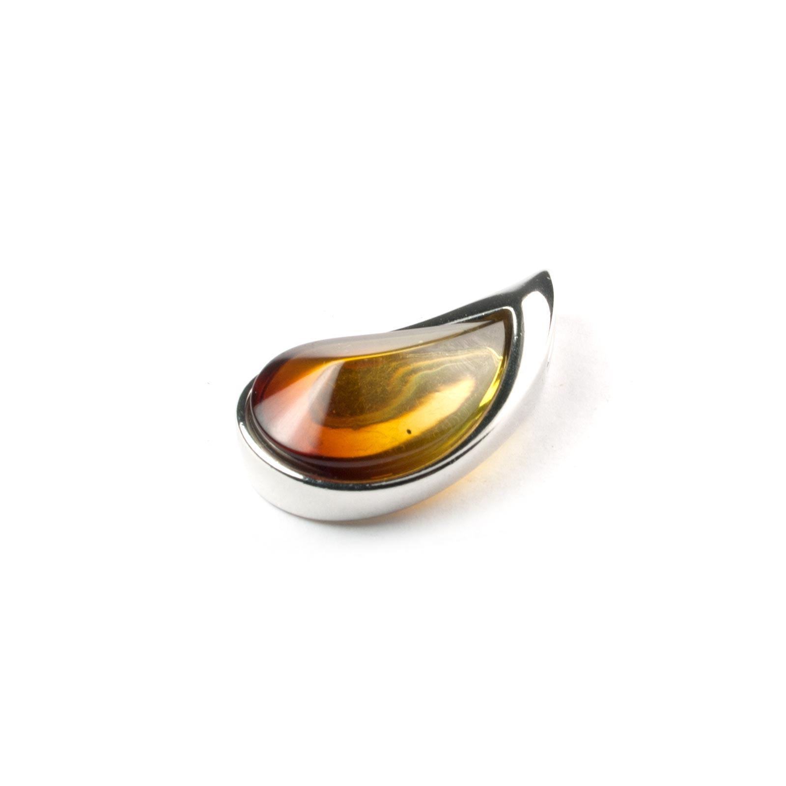 "Silver Pendant with Natural Gradient Baltic Amber ""Venera"""