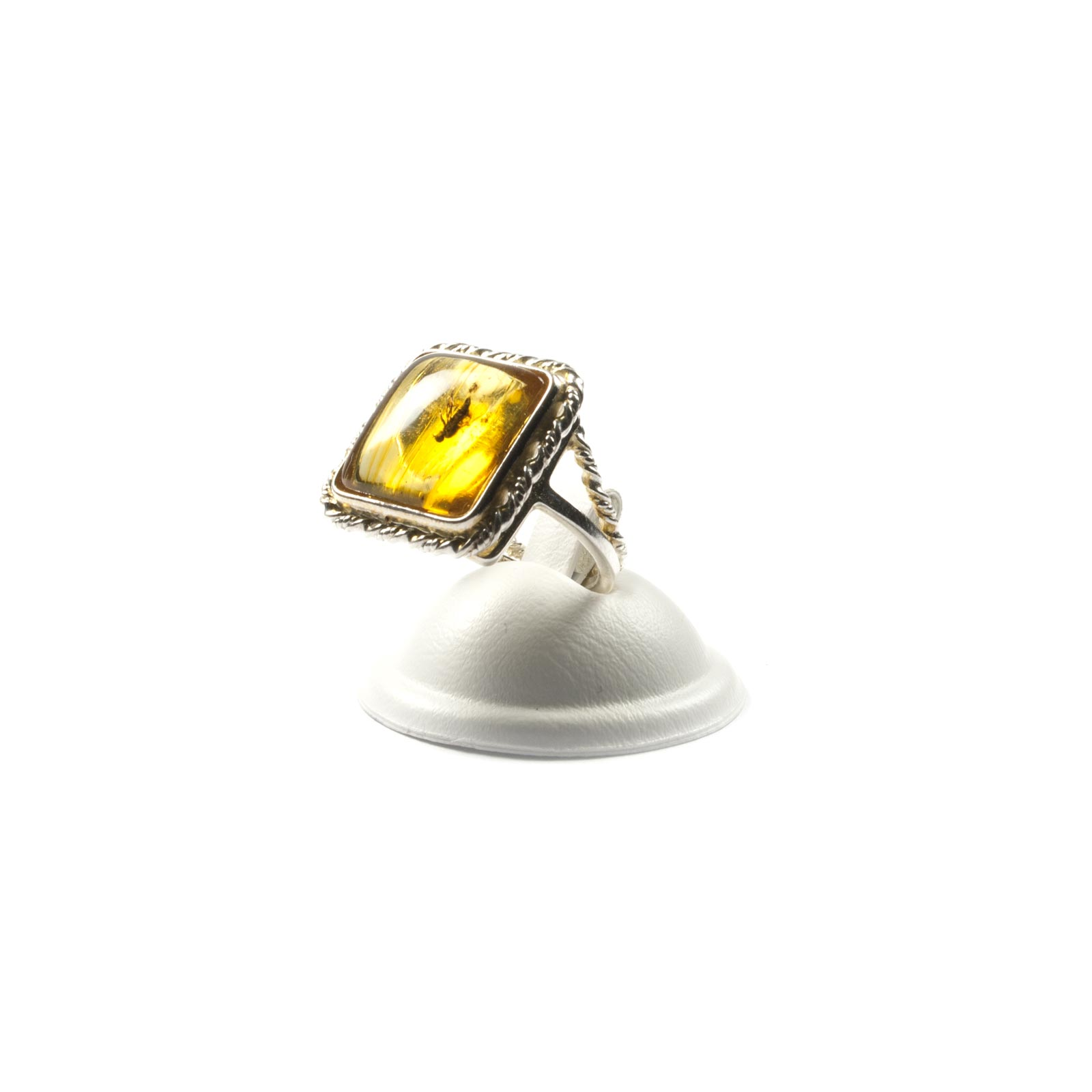 """Silver Ring with Natural Baltic Amber """"Bounty"""""""