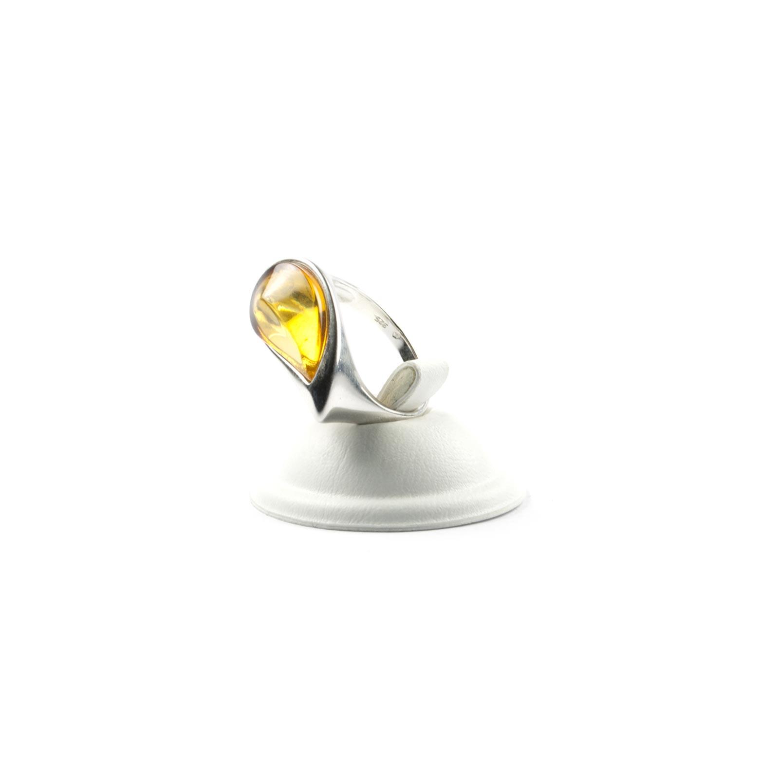 "Silver Ring with Natural Baltic Amber ""Venera"""