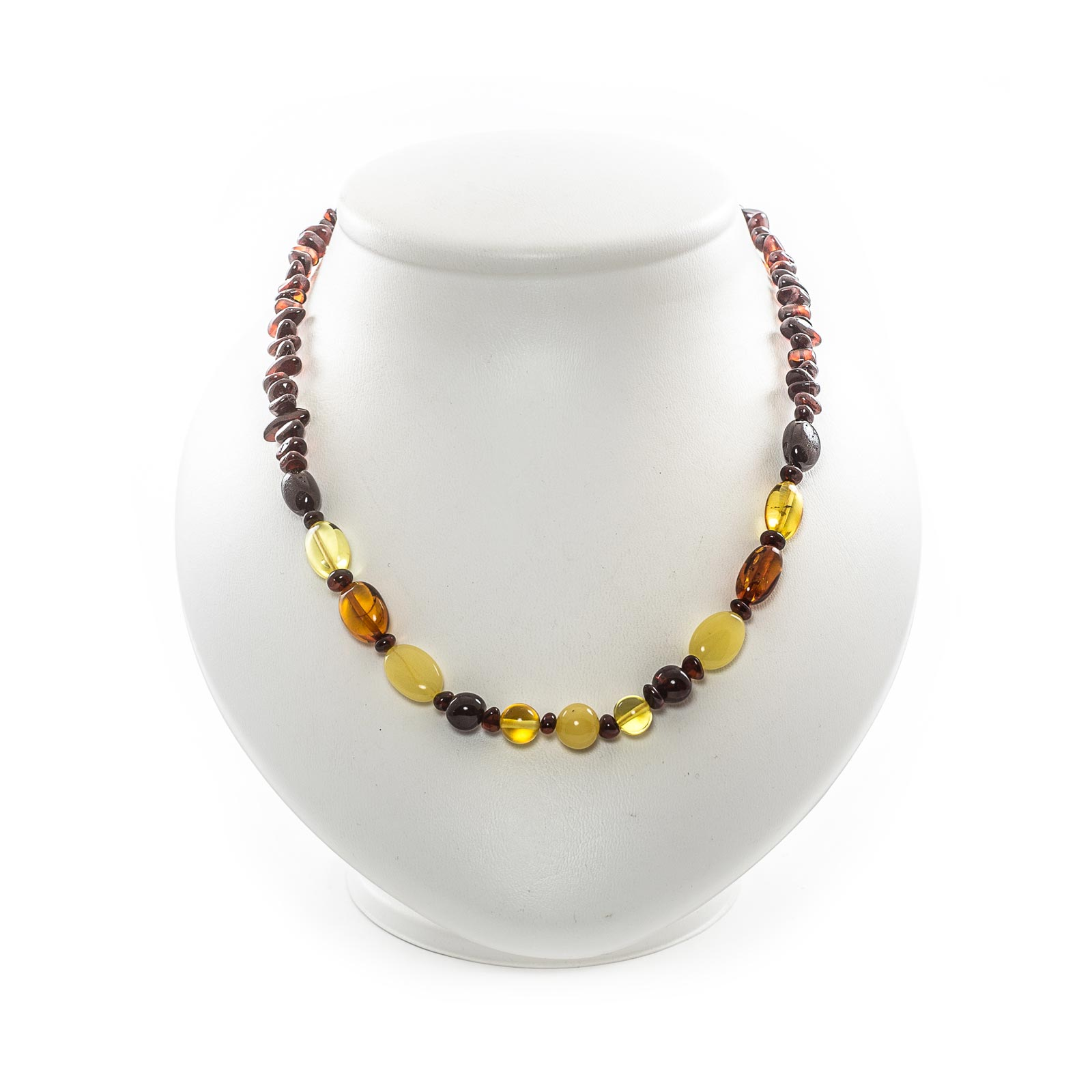 """Natural Baltic Amber Necklace """"Chestnut"""""""