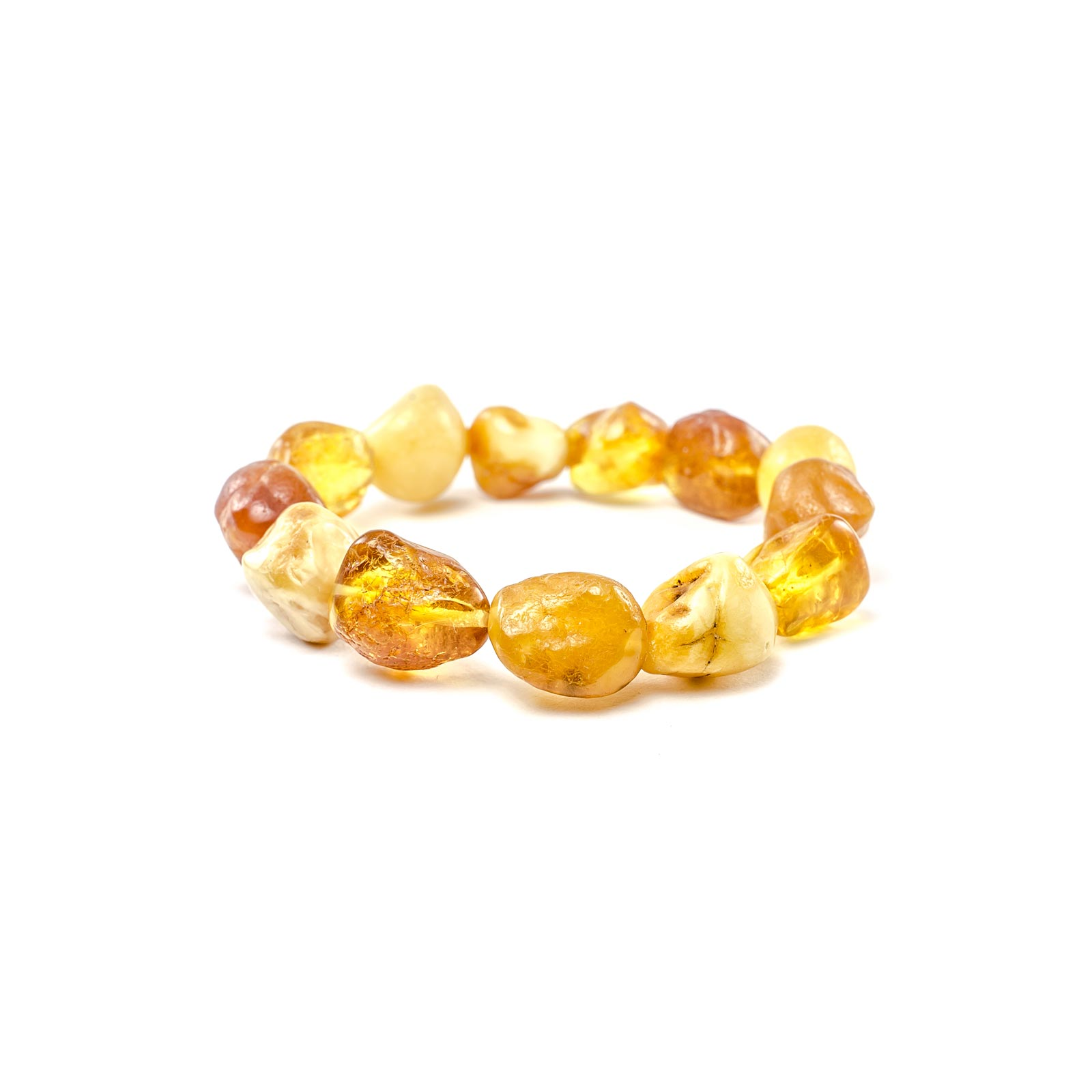 "Natural Raw Baltic Amber Bracelet ""Crusade"""