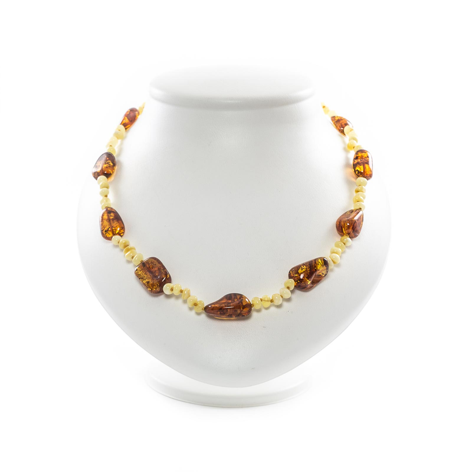 """Natural Baltic Amber Necklace """"Fancy"""""""