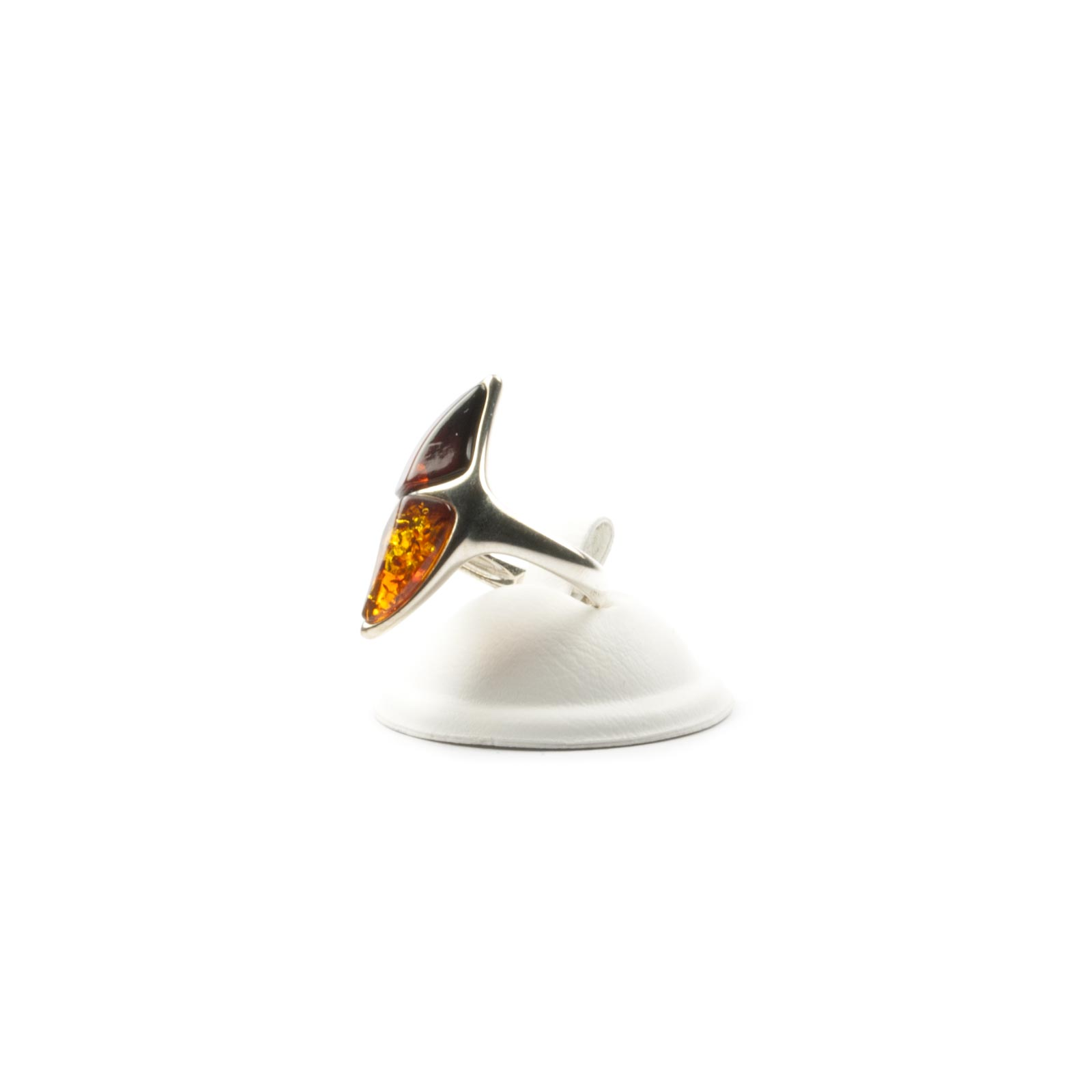 """Silver Ring with Natural Baltic Amber """"Cammie"""""""