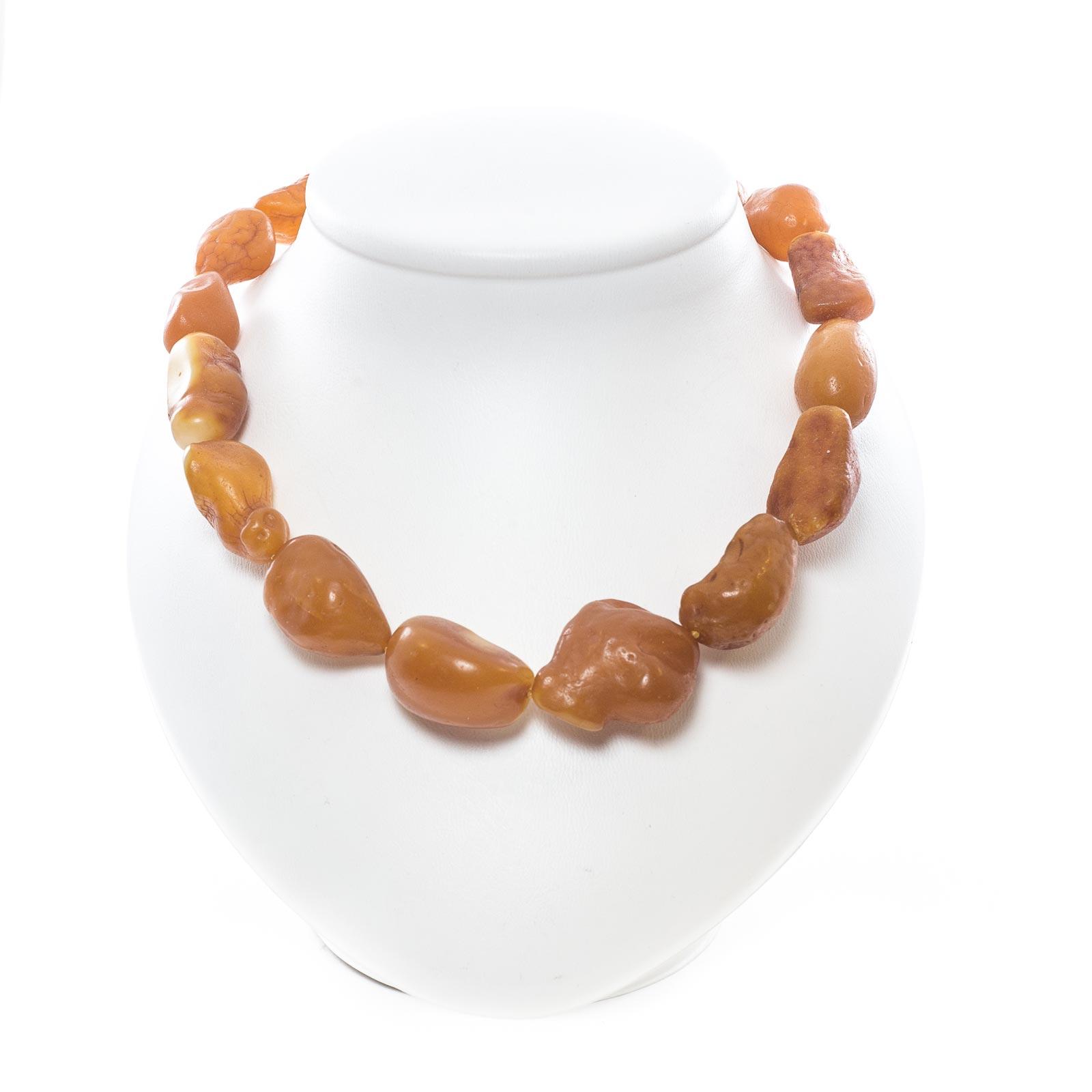 "Natural Baltic Raw Amber Necklace ""Sahara"""