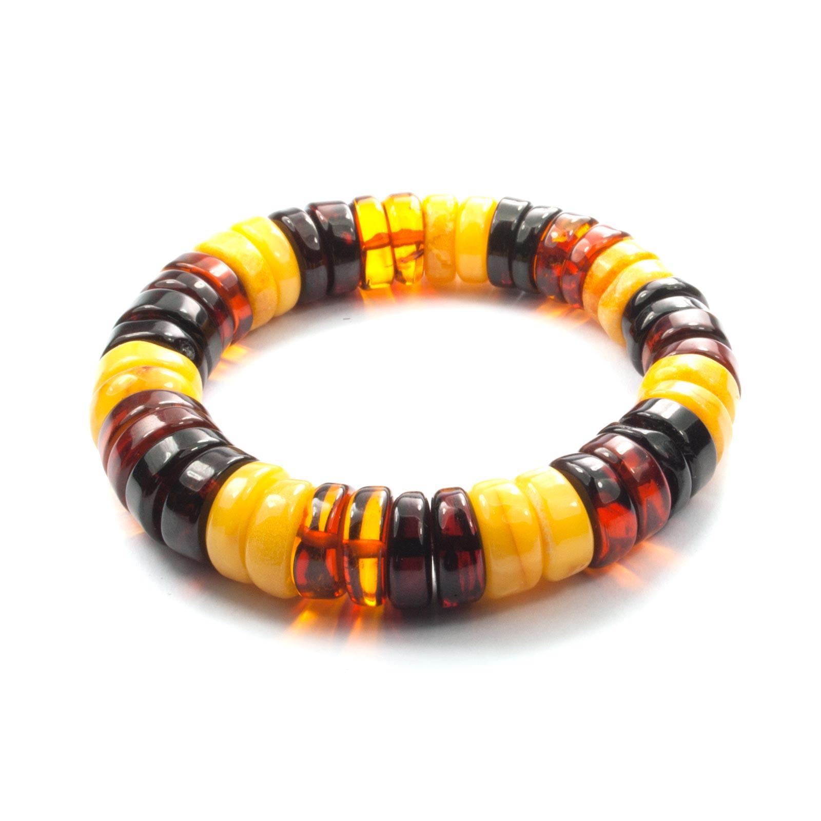 """Men Natural Baltic Amber Bracelet """"Nord"""""""