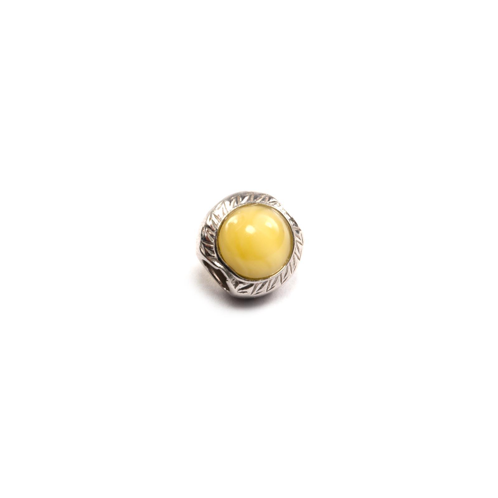 "Yellow Amber Charm Beads ""Tiger Eye"""