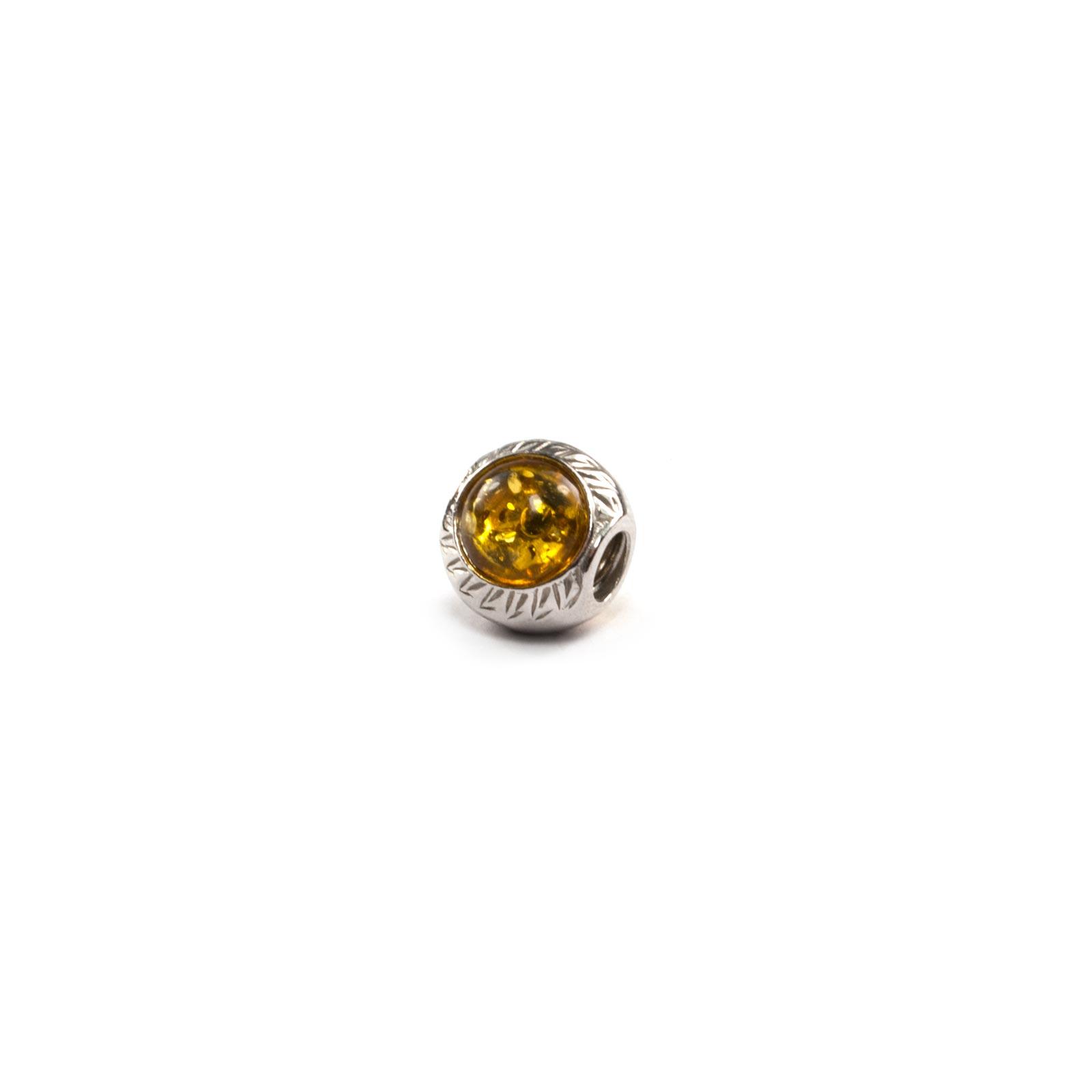 "Amber Charm Beads ""Tiger Eye"""