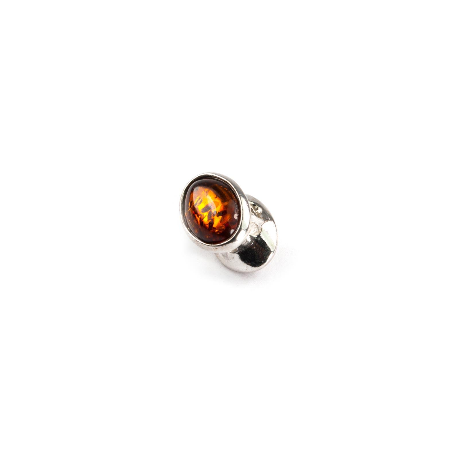 Pandora Style Bead with Cognac Amber
