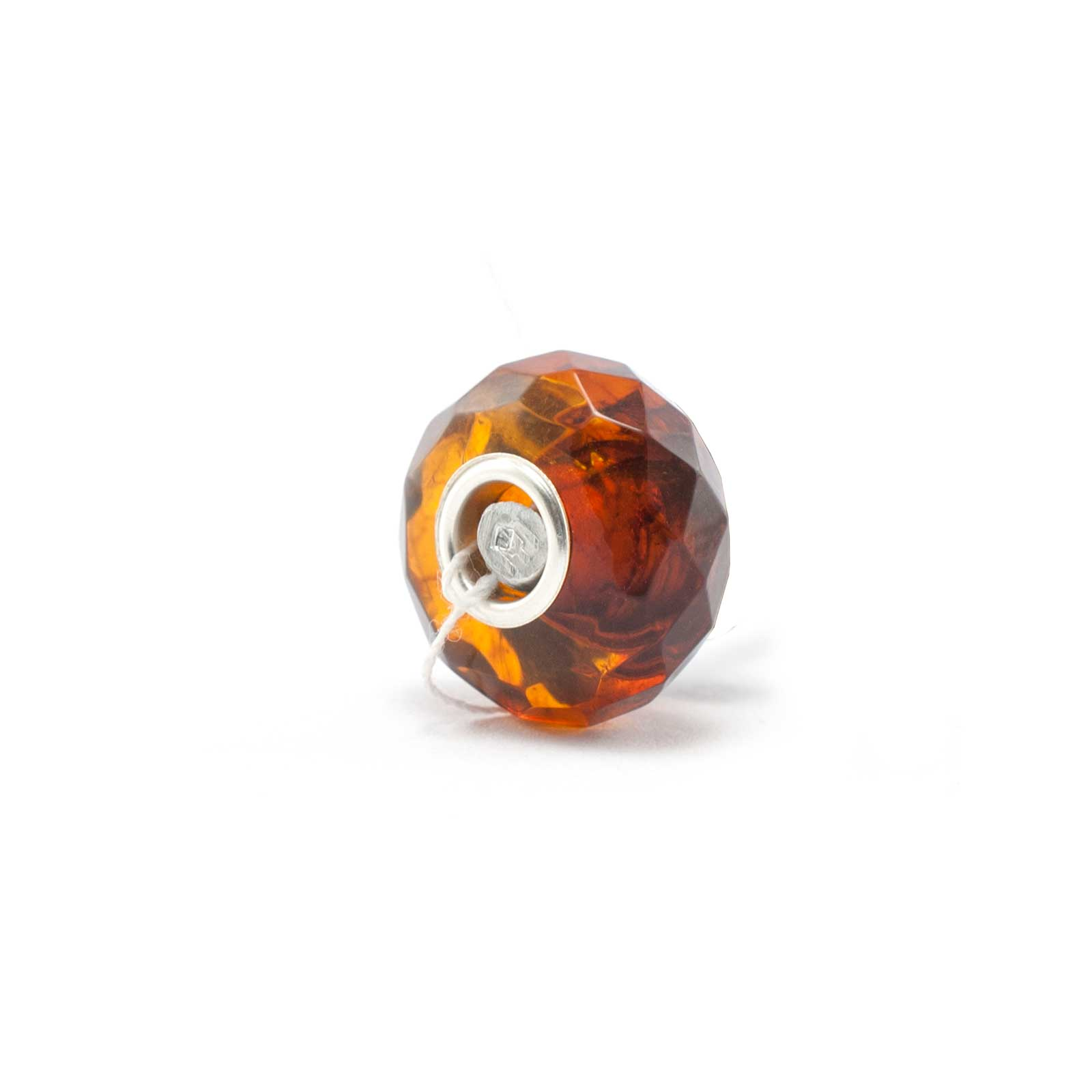 Amber Charm Cognac Faceted Bead