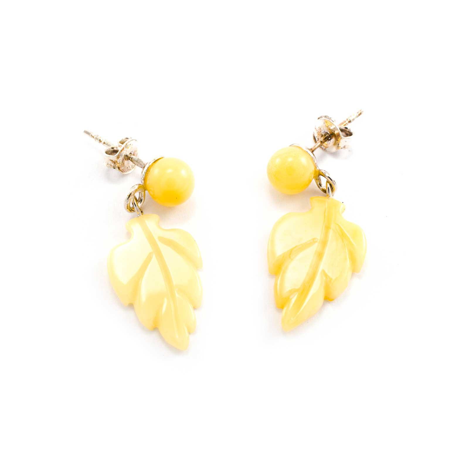 "Delicate Yellow Amber Earrings ""Autumn"""