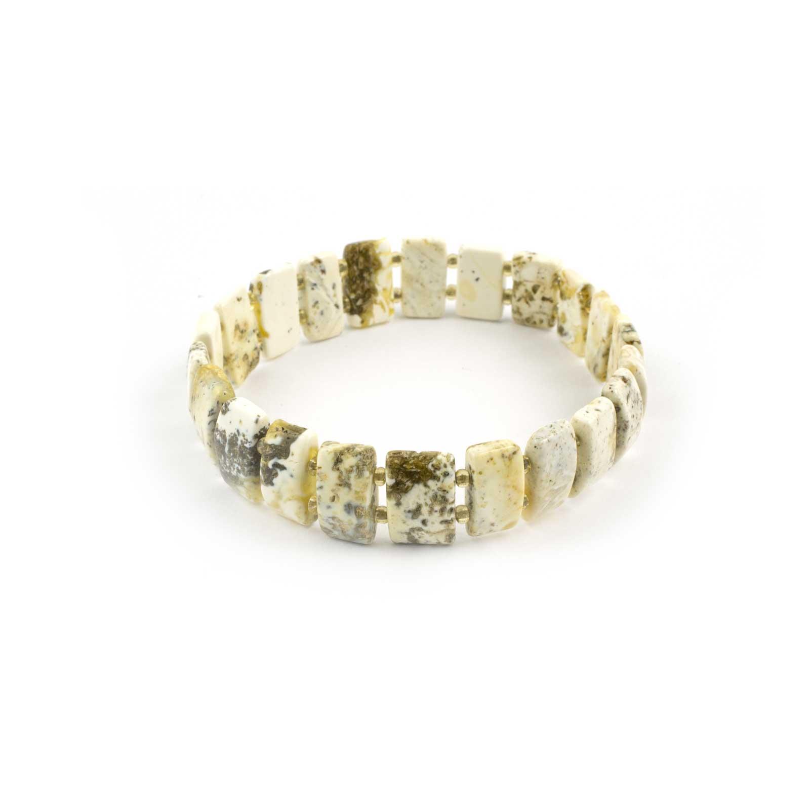Flat Stylish Natural Baltic Amber Bracelet