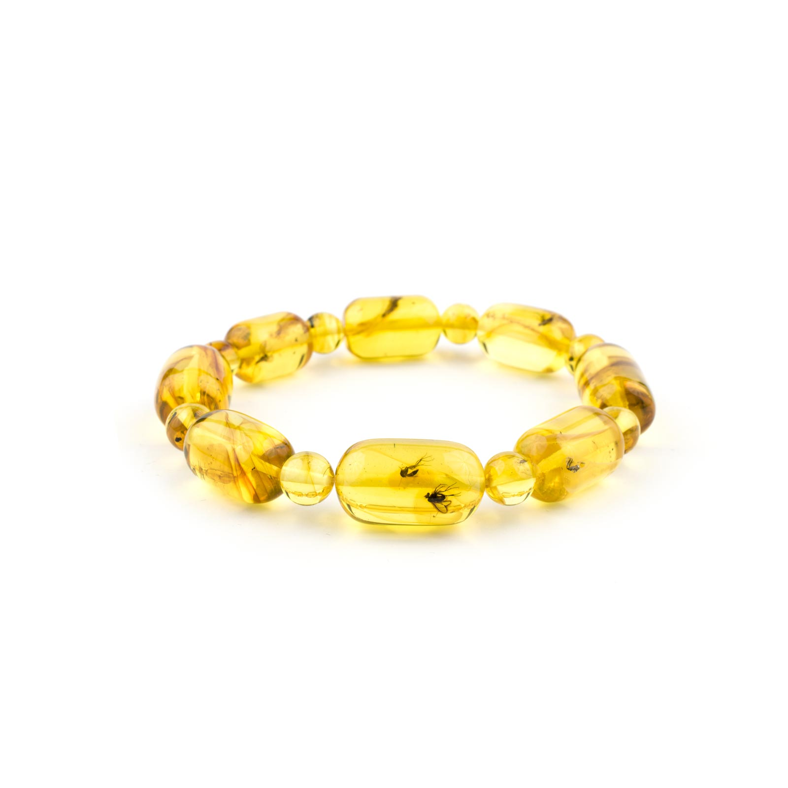Transparent Yellow Bracelet with Inclusions