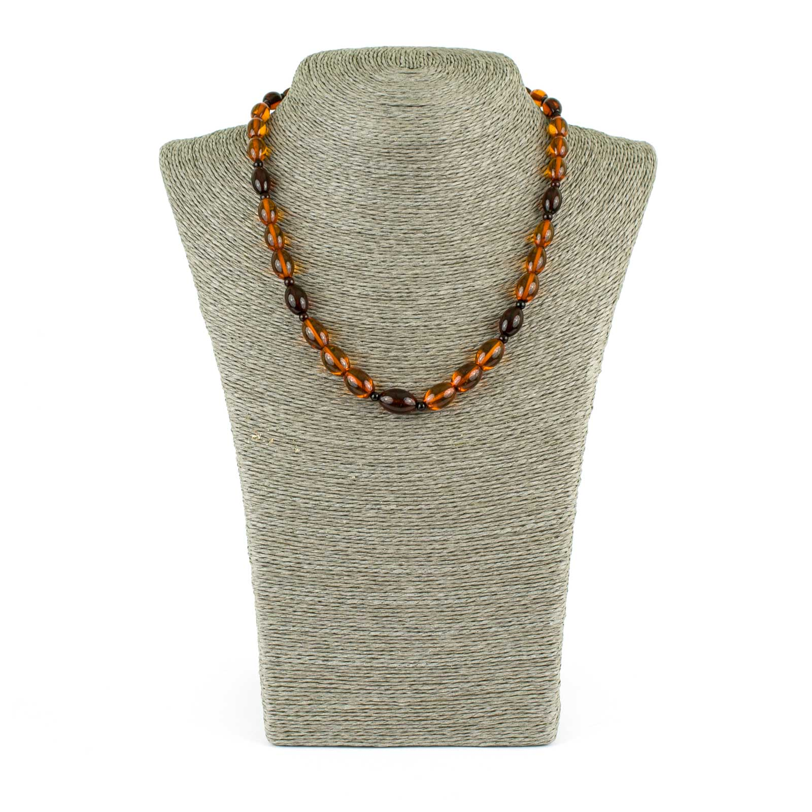 """Cognac and Cherry Amber Necklace """"Olive"""""""