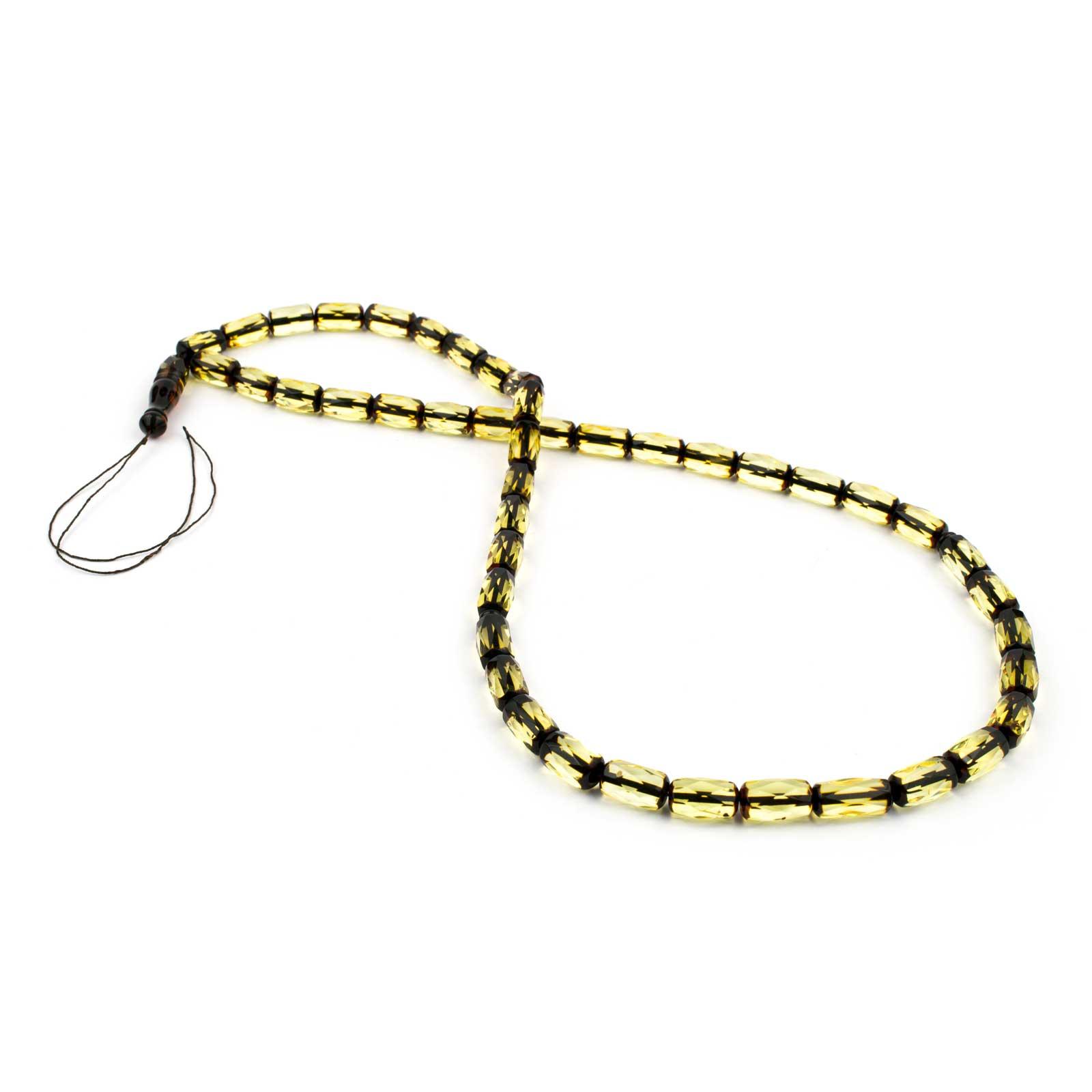 Faceted Lemon Amber Prayer Beads