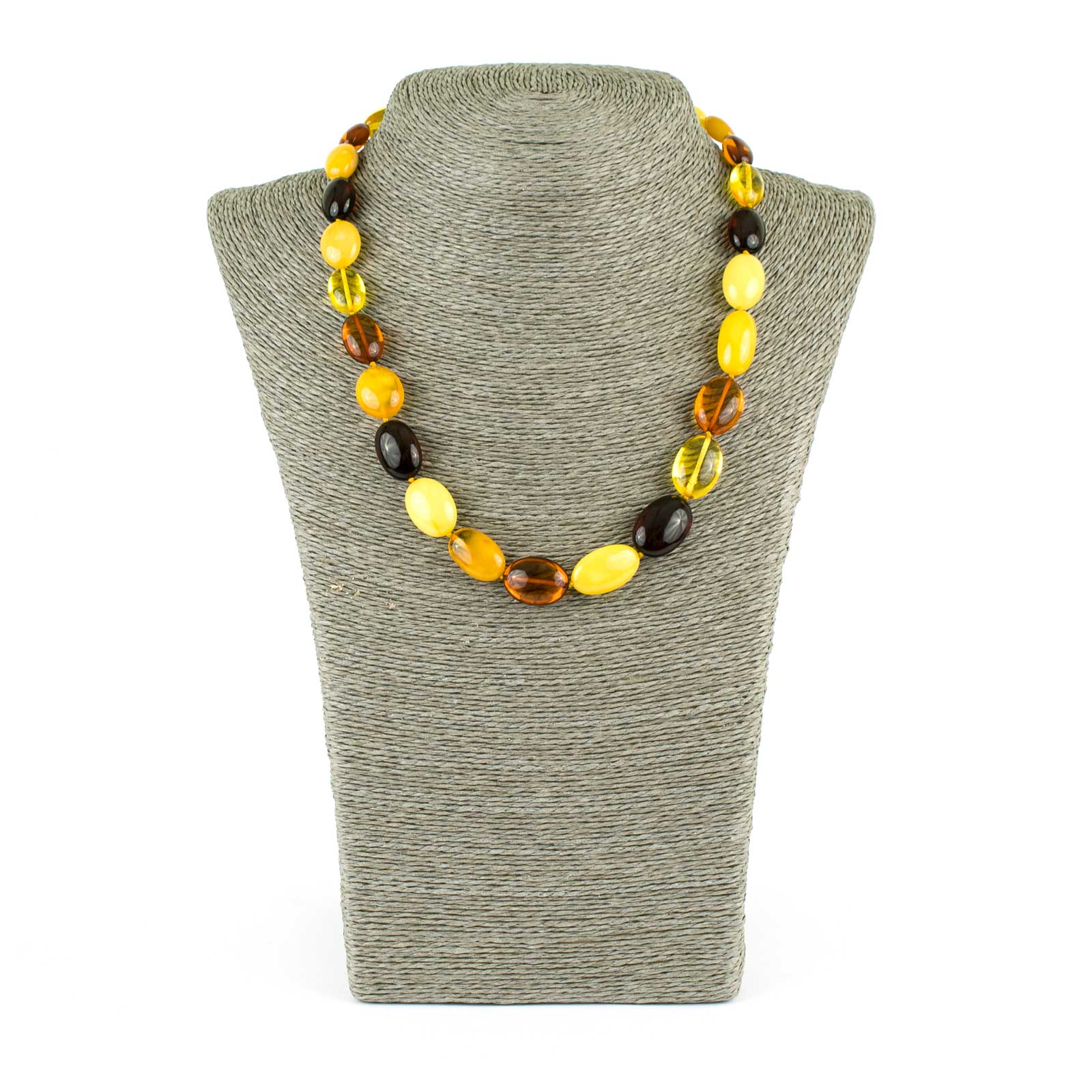 "Colorful Elegant Amber Necklace ""Lollypop"""