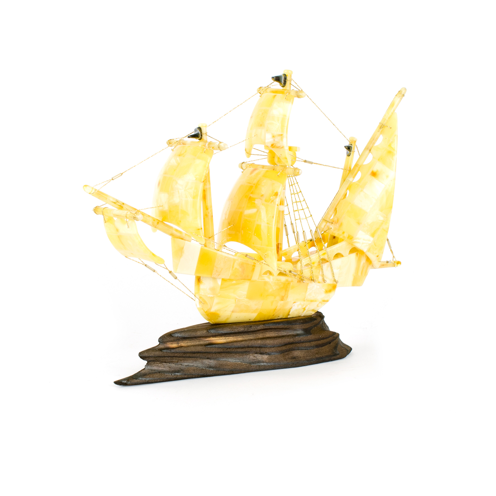 "Ship Figurine from Natural Baltic Amber ""Arabella"""